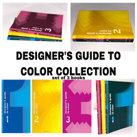 Designer's Guide to Color Series 3 Book Set  Vol 1 - 3 for Graphic Designer NEW