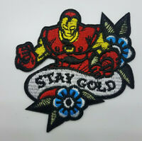 Iron man Stay Gold embroidered Patch 3  inches