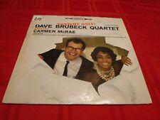 Dave Brubeck Quartet Carmen McRae Tonight Only! 1960 LP Jazz Strange Meadowlark