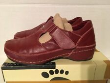 Exc Pre-Owned Womens EU 40/US 9-9.5 Spring Step Endear Leather Mary Jane - Red
