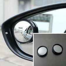 2x Car Wide Angle Rearview Rear Side Blind Spot Convex Mirror Black For Toyota