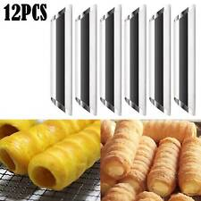 12x Stainless Steel Cannoli Form Cream Tubes Shell Horn Mould Baking Mold Tool