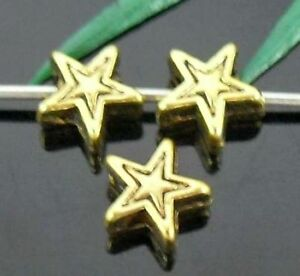 Wholesale 125/270Pcs Tibetan Gold Star Spacer Beads 6.5x3mm(Lead-free)