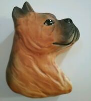Carol Halmy Artist Signed Porcelain Vintage Collectible Dog Boxer Harmony Box