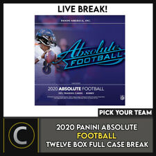 2020 PANINI ABSOLUTE FOOTBALL 12 BOX (FULL CASE) BREAK #F549 - PICK YOUR TEAM