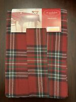 NEW St. Nicholas Square Plaid Christmas Fire Holiday Tablecloth OBLONG 60x84
