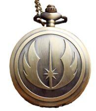 Star Wars Jedi Order Logo Bronze Metal Pendant Pocket Watch