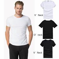 fitness le coton slim manche courte v / tour du cou les t - shirt décontracté..