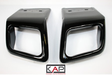 BLACK Exhaust Tips Tailpipe Fits: Range Rover Evoque Dynamic BLACK Edition 16-19