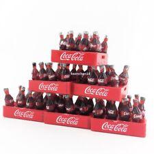 Lot 6 crates &72 coke bottles removable dollhouse miniature tiny toy soft drink