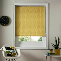 "ORLA KIELY LINEAR LEAF STEM YELLOW WHITE 71"" X 64"" - 180CM X 162CM ROLLER BLIND"