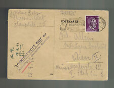 1944 Germany Theresienstadt Concentration Camp Postcard Cover Helene Salz Vienna