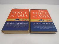 VINTAGE BOOK 1951 FIRST PRINTING THE VOICE OF ASIA MICHENER + BOOK CLUB EDITION