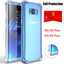 For Samsung Galaxy S8 Plus S9 Plus S9 Crystal Clear Shockproof Hard Cover Case