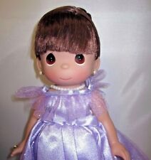 "Precious Moments 13"" Doll ""Prettiest one of All"" Brunette Girl Purple Dress NEW"