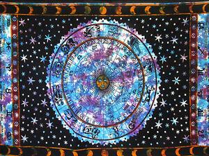 Twin Indian Zodiac Astrology Horoscope Room Decor Tapestry Mandala Wall Hangings