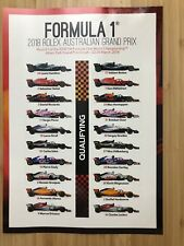 FORMULA 1 2018 ROLEX AUSTRALIAN GRAND PRIX STICKER SET BRAND NEW MINT COND.