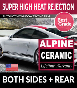 ALPINE PRECUT AUTO WINDOW TINTING TINT FILM FOR BMW 535i 4DR SEDAN 89-93