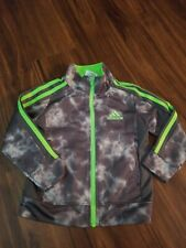 Adidas Jacket Boys Kids Size 2T Gray And Green