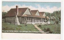 Log Cabins Tepee at Mooselookmeguntic House Rangeley Lakes Maine 1905c postcard
