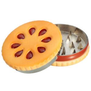 OZ cookie shape Grinder Herb steel Hand Crank Herbal Grinders 55mm