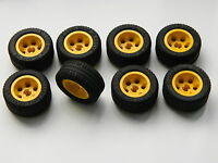 LEGO TECHNIC WHEELS set of 8 30.4x14mm VR Wheel Tire large tyre yellow