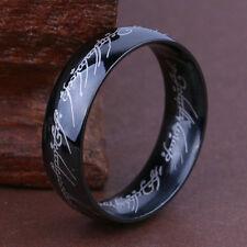 """Herr der Ringe/Hobbit """"DER EINE RING"""" aus Titan Größe: 18.19mm Nr8 Schwarz"""