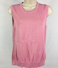 346 Brooks Brothers Silk/Cotton Cold Shoulder Sweater Career/Casual Pink Sz. M