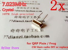 2pcs 7.023Mhz Crystal Oscillator for Qrp Pixie / Frog ~ 7.026Mhz Cw Ham radio