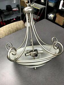 5 Light Nickel hanging chandelier