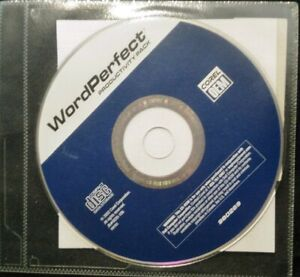 Word Perfect Productivity Pack CD Corel OEM Factory Sealed