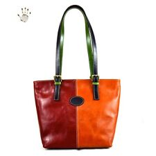 Sac Shopper en Cuir au Tannage Végétal - Costanza Multicolor