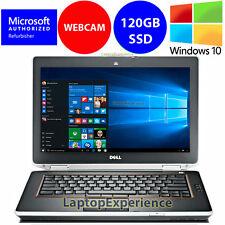 """DELL LAPTOP LATITUDE E6420 i5 2.5GHz 4GB 120GB SSD Win 10 DVD WEBCAM HDMI 14"""" HD"""