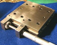 """Newport? Robust Steel Linear Stage, 4""""x4"""" Square, 2"""" Travel with Starrett Micro"""