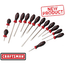 Craftsman 14 Piece Screwdriver Set Phillips Slotted Screwdrivers TPR Handle NEW