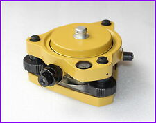 """NEW Yellow Tribrach  W/Optical & GPS Tribrach Adapter Carrier with 5/8""""x11 Mount"""