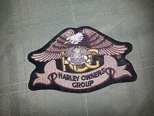 Harley Owners Group Patch With Pin attached Eagle HOG