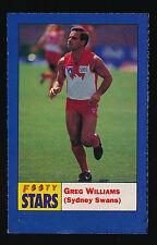 1991 Footy Stars Greg Williams Sydney Swans Sticker