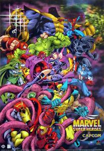Marvel Super Heroes (1996) Marvel Promo Poster, Original, SS, Unused, NM, Rolled