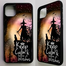 Keep calm believe in witches witch magic quote graphic case cover for iphone 11