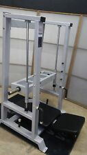 Vertical Leg Press Sled - Olympic Plate Loaded - Ironclad Silver Black Machine