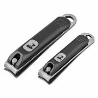 Stainless Steel Finger Toe Nail Clipper Trimmer Manicure Pedicure - Set of 2