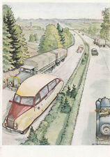 AK unge. 12: con el schnellautobus en el reichsautobahnen (g2732)