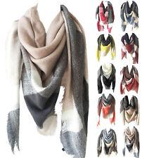 Womens Oversized Tartan Plaid Blanket Scarf Large Checked Wrap Shawl Winter CHIC