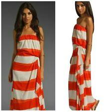 Alice + Olivia Orange Stripe Maxi Strapless Dress $484