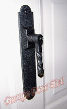 Garage Door Lock - WROUGHT IRON - FULLY FUNCTIONAL, Lock,2 Keys + Backing Plate