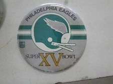 Philadelphia Eagles Super Bowl XV 1981 3 1/2' Pin-up Button Free Shipping