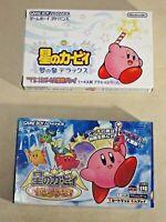 Kirby Mirror Amazing Gameboy Advance GBA 2 game boy Nintendo box manual Japan
