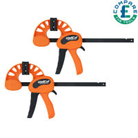 2 Pcs Quick Grip Wood working Bar Clamp Flip-series 60X150 Clamping Force 70 kg