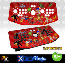 Multi Game v1  X Arcade Artwork Tankstick Overlay Graphic Sticker